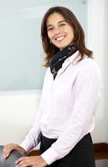 Business woman portrait in an office