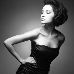 Elegant lady with stylish hairstyle