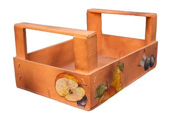 Cassetta in legno, decoupage