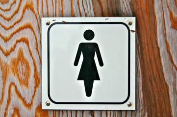 Porte WC femmes