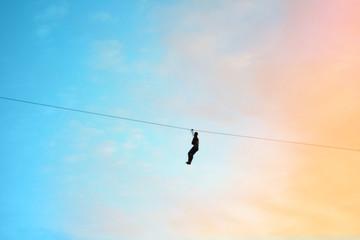 High wire adventure