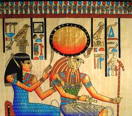 Papiro egizio con dio Horus