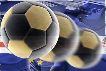 Flag of Cape Verde wavy soccer