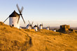 windmills with castle, Consuegra, Castile-La Mancha, Spain - 20937897