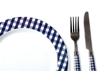 Dinner set (plate, fork, knife)