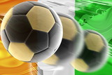 Flag of Ivory Coast wavy soccer poster