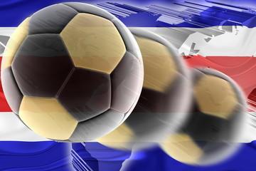 Flag of Costa Rica wavy soccer