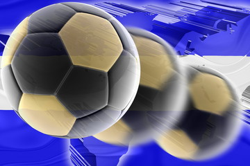 Flag of El Salvador wavy soccer