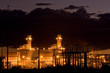 Coil power plant at night in New Mexico, USA