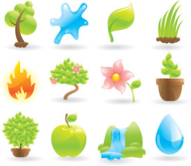 Natural icons set