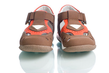 Kids leather shoes.