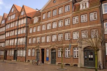 Historische Häuserzeile in Hamburg (Brahms-Museum)