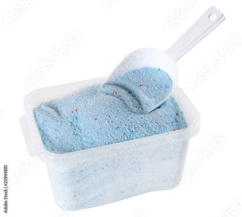 Detergent powder. Isolated