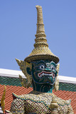 A kind of mythological soldier in Grand Palace in Bangkok poster