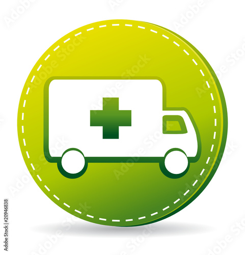 Green ambulance icon.