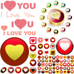 Heart love button. Great collection.