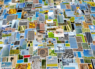 Piles of photo background