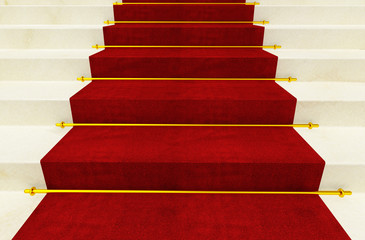 stair and red carpet