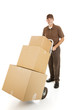 Moving Man Delivers Boxes
