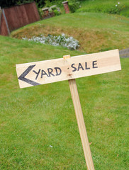 Wooden Yard Sale Sign