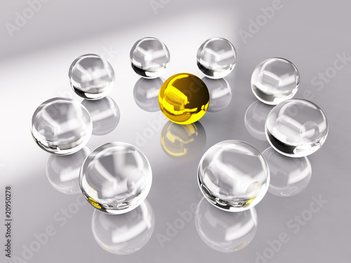 Crystal and Gold Ball