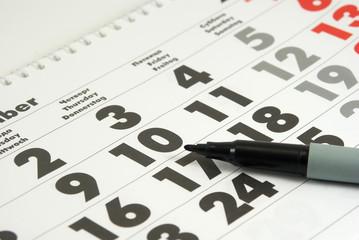 Calendar and marker