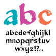 Brush alphabet - vector