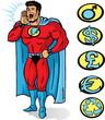 Superhero announcing or yelling something