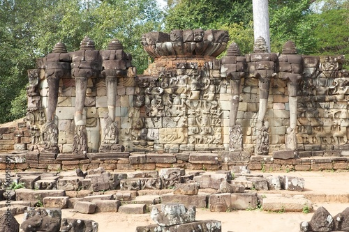 Terrace of Elephants in Angkor Thom, Cambodia