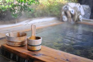 温泉旅館の露天風呂