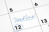 Mark the deadline on the business calendar poster