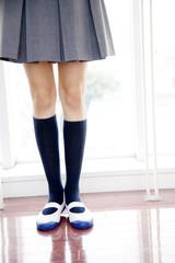 女子高校生の足元