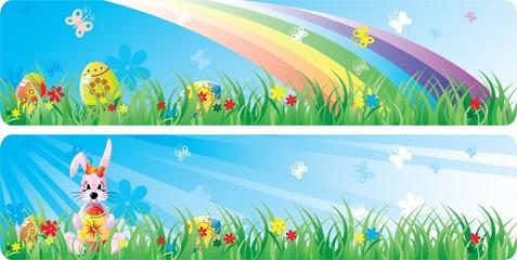 Colorfol Easter banner set