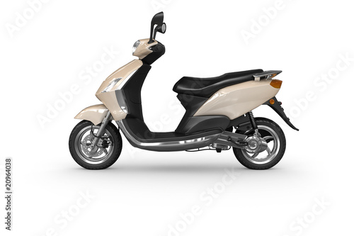 Scooter - isolated side view