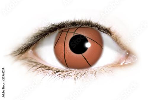 Fototapeten,basketball,auge,eye,sport