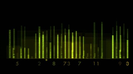 green background equalizer and number,seamless loop,def