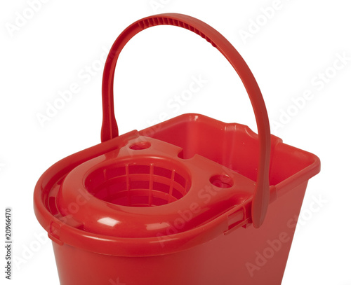 red bucket closeup