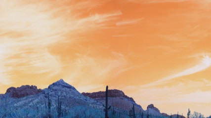Panorama of Arizona Desert Mountains