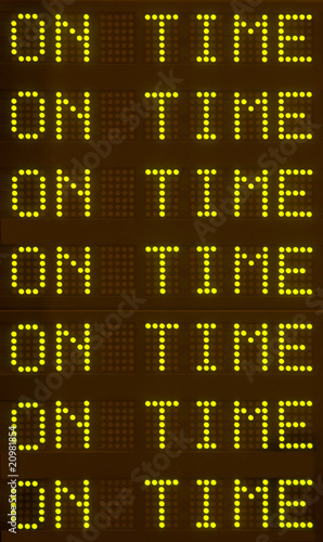 Depart-Arrival Schedule Sign