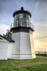 Cape Meares Lighthouse at Sunset