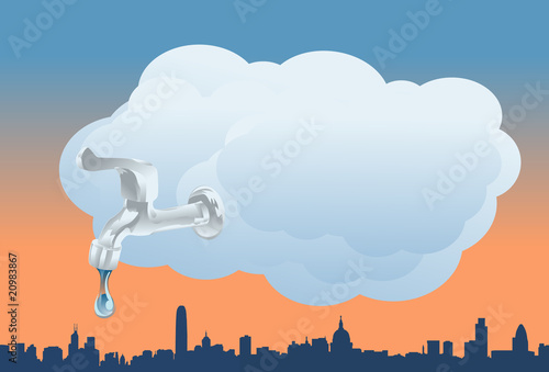 The Clouds Turning On The Faucet