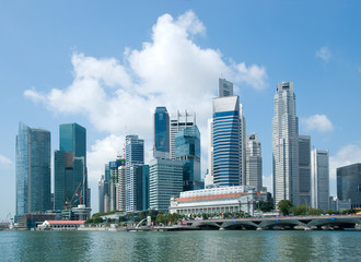 Singapore skyline, financial district