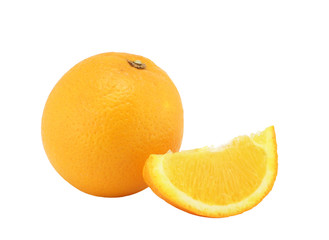 The whole orange and segme
