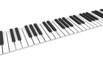 Klavier Klaviatur gerade, schräg 2