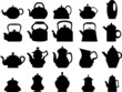 Collection of vector teapots