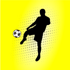 a soccer player with a ball in vector