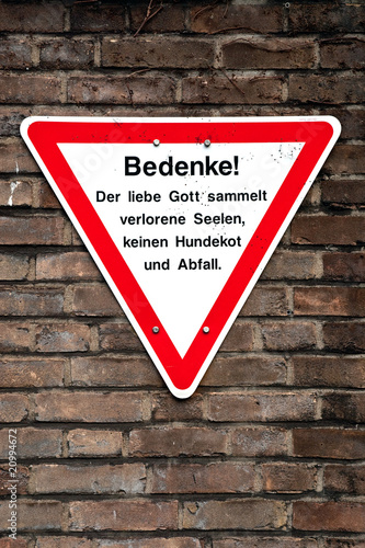 Warnschild Hundekot