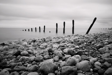 Groynes and Rocks Seascape