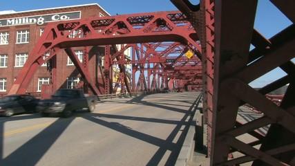 Traffic Over Steel Bridge
