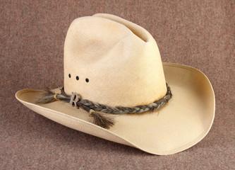Cowboy Hat on Wool Blanket